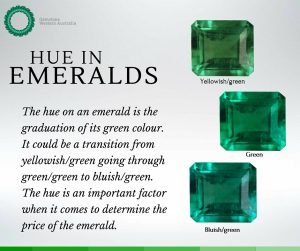 Hue in Emeralds