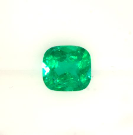 0.99 Carats Cushion Colombian Emerald