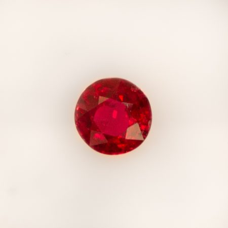 1.0 ct Natural Ruby Round Shape Unheated