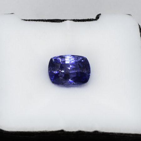 4.04 CT NATURAL  CORNFLOWER BLUE SAPPHIRE CUSHION  CUT