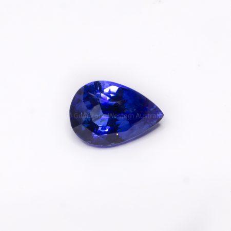 2.10 CT NATURAL  VIVID BLUE SAPPHIRE PEAR  CUT