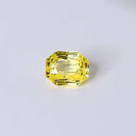 2.90 CT NATURAL YELLOW SAPPHIRE RADIANT MIX CUT UNHEATED