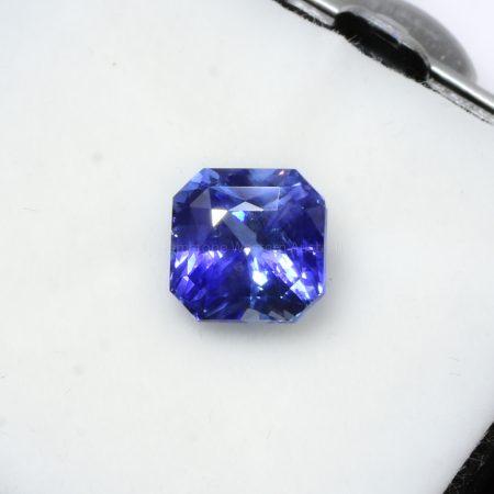 3.58 CT NATURAL   BLUE SAPPHIRE OCTAGON CUT